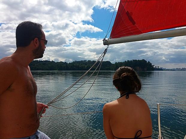 velejar na represa de guarapiranga